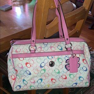 COACH Chelsea Multicolored Leather Satchel Handbag